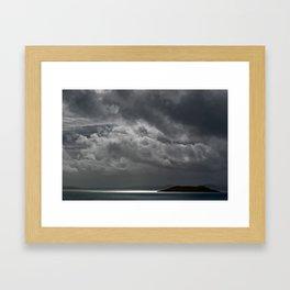 Cloudy island Framed Art Print