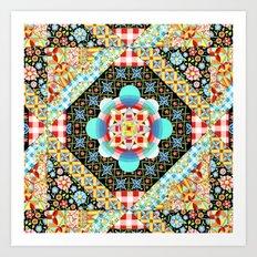 Bricolage Patchwork Quilt Art Print