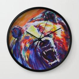 Mama Bear or Don't mess with my kid! Wall Clock
