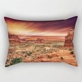 Arches at Sunset Rectangular Pillow