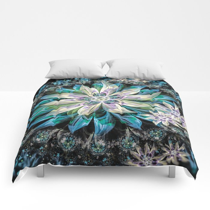 Midnight Flowers Comforters