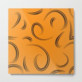 Patterns from curls to represent natural yellow products. Metal Print