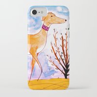 greyhound iPhone & iPod Cases featuring Greyhound by Caballos of Colour