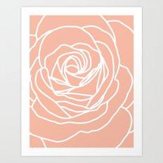 Rose Peach Rug Art Print