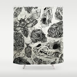 Bones and Co Shower Curtain