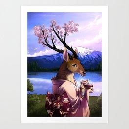 Lady Cerezo Art Print