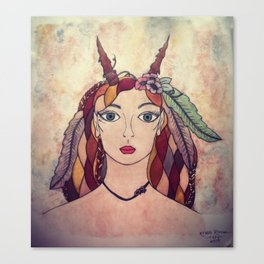 Lady of the Wood Canvas Print