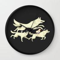 mononoke Wall Clocks featuring Princess Mononoke by Wharton