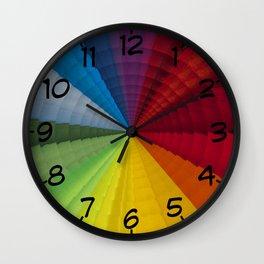 Rainbow colors radial pattern Wall Clock