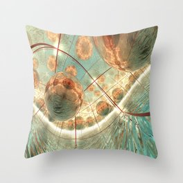 The impossible sea Throw Pillow