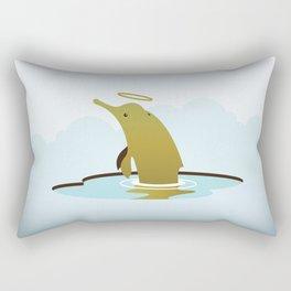 God's Zoo: Baiji Dolphin Rectangular Pillow