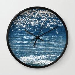 Blue Sea Sparkle Wall Clock