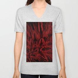 Red- Surreal Mixed Media  Unisex V-Neck