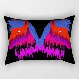 The Psychedelic Melt Rectangular Pillow