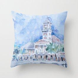 City hall in Sombor Throw Pillow