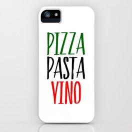 Pizza Pasta Vino iPhone Case