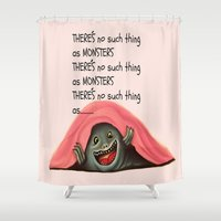 monsters Shower Curtains featuring Monsters by Veronica Ventress