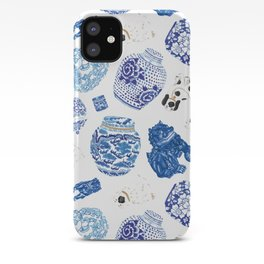 Chinoiserie Curiosity Cabinet Toss 2 iPhone Case
