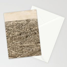 Vintage Pictorial Map of Hyde Park MA (1890) Stationery Cards