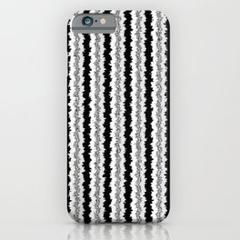 Black White and Silver Vertical Jiggle iPhone Case
