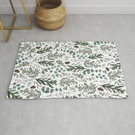 Pine and Eucalyptus Greenery Rug