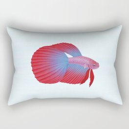 betta splendens bicolor purple male Rectangular Pillow
