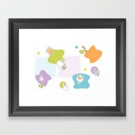 Little Farm Framed Art Print
