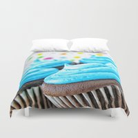 cupcakes Duvet Covers featuring Cupcakes by ThePhotoGuyDarren