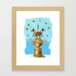 Dog Trophy 3 Framed Art Print