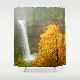 Waterfall into Fall Shower Curtain