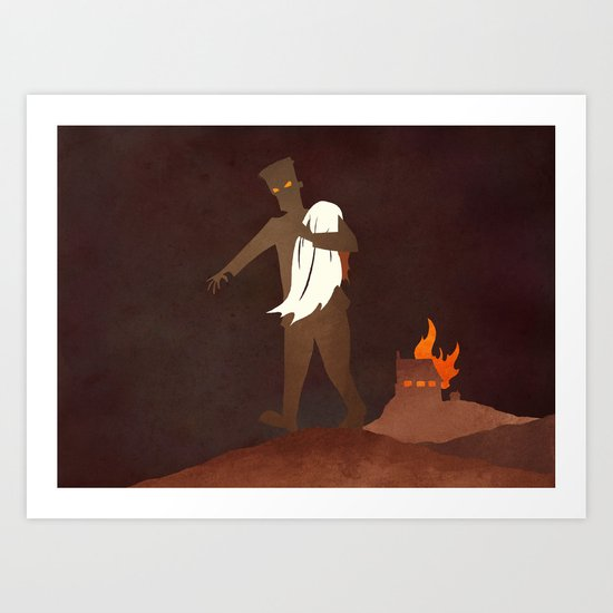 Afraid of Fire Art Print