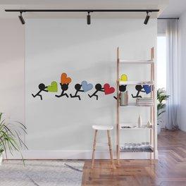 Heart runners by Oliver Henggeler Wall Mural