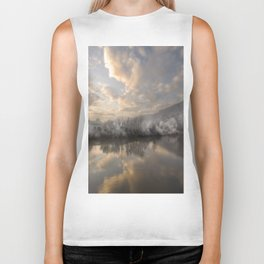 Wintery morning by the  river Biker Tank