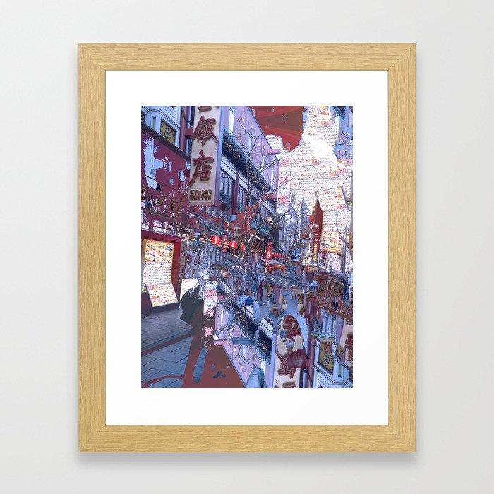 Yokohama Chinatown Framed Art Print