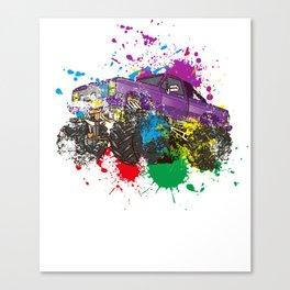 Splash Monster Truck Canvas Print