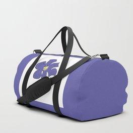 sketch of an indigo flower Duffle Bag