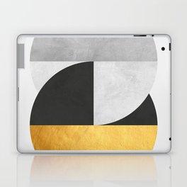 Golden Geometric Art IX Laptop & iPad Skin