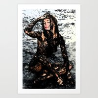 Stained Girl Art Print
