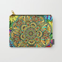 Colorburst Mandala Flowers Carry-All Pouch