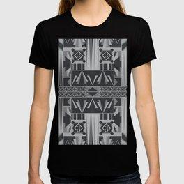 Retro Art Deco Geometry Black White T-shirt