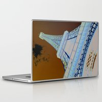 eiffel tower Laptop & iPad Skins featuring Eiffel Tower by caroline