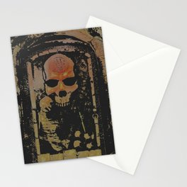darkness rises when silence dies Stationery Cards