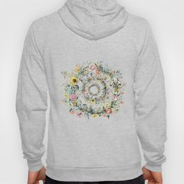Circle of life- floral Hoody