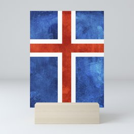 Icelandic Flag Mini Art Print