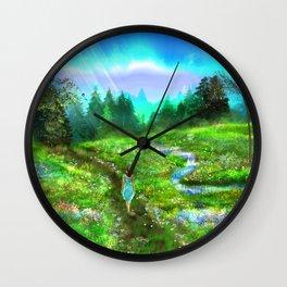Meadow of Life Wall Clock