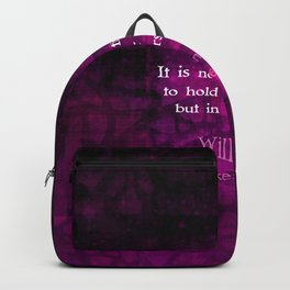 William Shakespeare Inspirational Motivational Quotation About Destiny Backpack