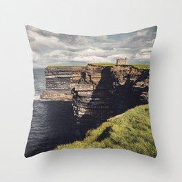 Irish Sea Cliffs Throw Pillow