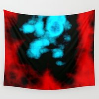 pain Wall Tapestries featuring Pain Clouds by Christy Leigh
