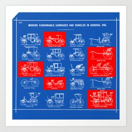 MODERN FASHIONABLE CARRIAGES AND VEHICLES IN GENERAL USE. I Art Print