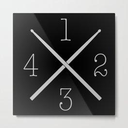 Drum 1,2,3,4... Metal Print